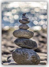 Plakat metalowy Feeby kamienie na plaż 20cmx30cm