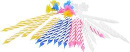 Arpex Świeczki kolorowe klasyczne z podstawkami - 24 szt. uniwersalny