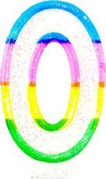 TG Świeczka cyferka z brokatem - 0 - 7 cm uniwersalny
