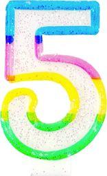 TG Świeczka cyferka z brokatem - 5 - 7 cm uniwersalny