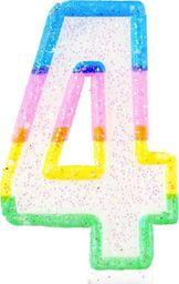 TG Świeczka cyferka z brokatem - 4 - 7 cm uniwersalny