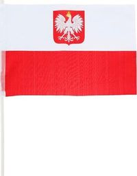 GoDan Polska flaga narodowa na patyku - 43 cm x 29 cm  - 1 szt. uniwersalny