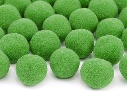 Party Deco Pompony pluszowe zielone - 20 szt. uniwersalny