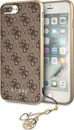 Guess Guess GUHCI8LGF4GBR iPhone 7/8 Plus brownn/brązowy hard case 4G Charms Collection uniwersalny