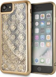 Guess Guess GUHCI8PEOLGGO iPhone 7/8 złoty /gold hard case 4G Peony Liquid Glitter uniwersalny
