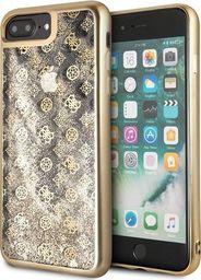 Guess Guess GUHCI8LPEOLGGO iPhone 7/8 Plus złoty/gold hard case 4G Peony Liquid Glitter uniwersalny