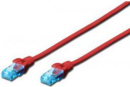 Digitus Patch cord U/UTP kat.5e PVC 0,5m czerwony (DK-1512-005/R)