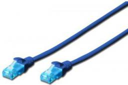 Digitus Patch cord U/UTP kat.5e PVC 1m niebieski