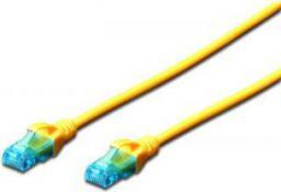 Digitus Patch cord U/UTP kat.5e PVC 1m żółty (DK-1512-010/Y)