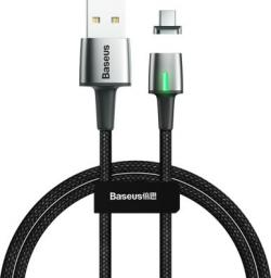 Kabel USB Baseus Zinc magnetyczny kabel USB / USB Typ C 2m 2A czarny (CATXC-B01)