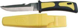 FOX Nóż do nurkowaniaw etui z paskiem na udo 23 cm żółty uniwersalny