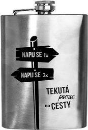 Orion Piersiówka stalowa butelka do alkoholu 240 ml uniwersalny
