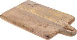 Deska do krojenia Excellent Housewares z rączką drewniana Retro 33x20cm