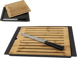 Deska do krojenia Orion z tacą na okruszki bambusowa z nożem
