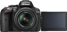 Lustrzanka Nikon D5300 + 18-55 VR Czarny (VBA370K001)