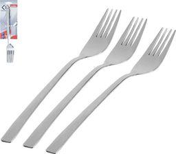Orion Widelce stołowe / widelec obiadowy PLAIN 3szt stal