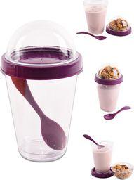 Orion Pojemnik kubek na jogurt sałatkę z łyżeczką uniwersalny