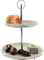 Orion Patera / taca 2-poziomy na ciasta, owoce, cukierki uniwersalny