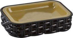 Dozownik do mydła Orion Podstawka na mydło / mydelniczka RATTAN brązowa uniwersalny