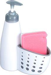 Dozownik do mydła Orion Dozownik do mydła / płynu do naczyń z gąbką BIAŁY uniwersalny