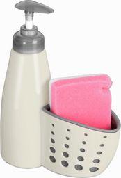 Dozownik do mydła Orion Dozownik do mydła / płynu do naczyń z gąbką BEŻOWY uniwersalny