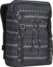 Plecak Wenger Plecak z klapą WENGER Cohort Black Native Print 16`Czarny uniwersalny