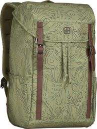 Plecak Wenger Plecak z klapą WENGER Cohort Olive Fern Print 16` Zielony uniwersalny