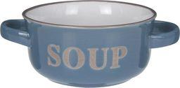 Excellent Housewares Miska bulionówka ceramiczna SOUP granatowa uniwersalny
