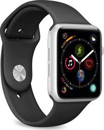 Puro PURO ICON Apple Watch Band - Elastyczny pasek sportowy do Apple Watch 38 / 40 mm (S/M & M/L) (Czarny)