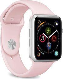 Puro PURO ICON Apple Watch Band - Elastyczny pasek sportowy do Apple Watch 38 / 40 mm (S/M & M/L) (Piaskowy róż)