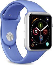 Puro PURO ICON Apple Watch Band - Elastyczny pasek sportowy do Apple Watch 42 / 44 mm (S/M & M/L) (Blue Formentera)