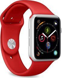 Puro PURO ICON Apple Watch Band - Elastyczny pasek sportowy do Apple Watch 42 / 44 mm (S/M & M/L) (Czerwony)