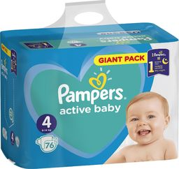 Pampers Pieluchy Active Baby Maxi 4 76 szt.