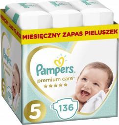 Pampers Pieluchy Premium Monthly Box 5 (11-16kg) 136 szt.