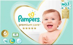 Pampers Pieluchy Premium Care 6 Extra Large Mega Box 78 szt.