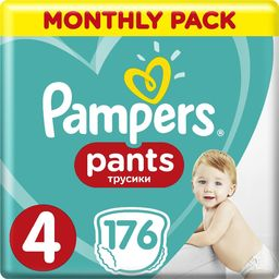 Pampers Pieluchomajtki Pants 4 (9-15 kg) 176 szt. Monthly Pack