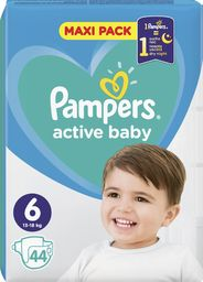 Pampers Pieluchy Active Baby Dry Maxi Pack 6 44 szt.