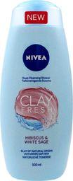 Nivea Żel pod prysznic Clay Fresh Hibiskus i biała szałwia 500ml