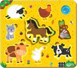 Dumel Puzzle zwierzątka żółte