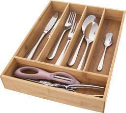 Excellent Housewares Wkład / organizer do szuflady na sztućce BAMBUSOWY uniwersalny