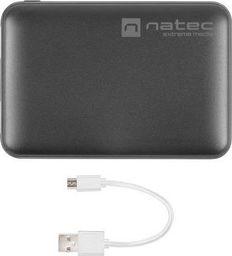 Powerbank Natec Extreme Media 5000mah Compact 2x Usb + 1x Usb-c Czarny