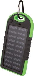 TelForceOne Power Bank Solarny Setty 5000 Mah Zielony
