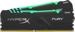 Pamięć HyperX Fury RGB, DDR4, 8 GB, 2400MHz, CL15 (HX424C15FB3AK2/16)