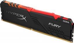 Pamięć HyperX Fury RGB, DDR4, 8 GB, 3200MHz, CL16 (HX432C16FB3A/8)