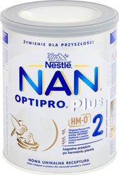 Nestle Mleko modyfikowane Nan Optipro 2 PLUS HM-0 dla niemowląt powyżej 6 miesiąca 800g puszka