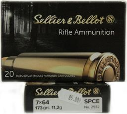 S&B Amunicja S&B 7x64 SPCE 11,2g uniwersalny