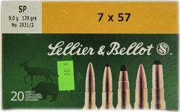 S&B Amunicja kulowa S&B 7x57 SP 9,0g uniwersalny