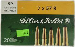 S&B Amunicja kulowa S&B 7x57R SP 9,1g uniwersalny