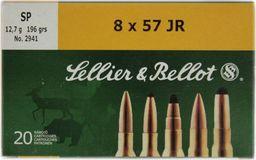 S&B Amunicja kulowa S&B 8x57 JR SP 12,7g uniwersalny