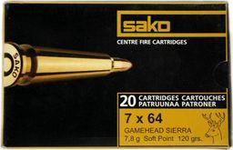 Sako Amunicja kulowa SAKO 7x64 Gamehead 7,8g uniwersalny
